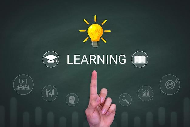 Lernen ist im digitalen zeitalter eine gute idee. wissenserziehung