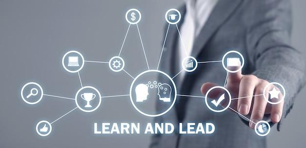 Lernen und führen. geschäftskonzept