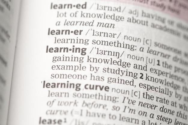 Lernende definition