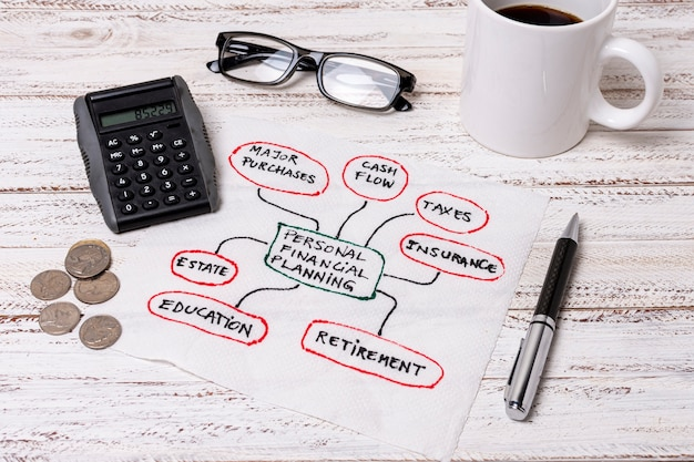 Lesebrille für persönliche planungsfinanzen
