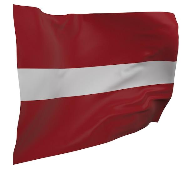 Lettland flagge isoliert. winkendes banner. nationalflagge von lettland
