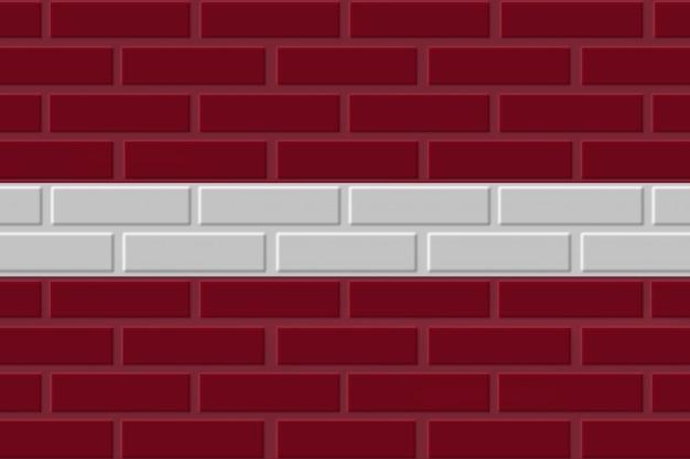 Lettland ziegel flagge illustration
