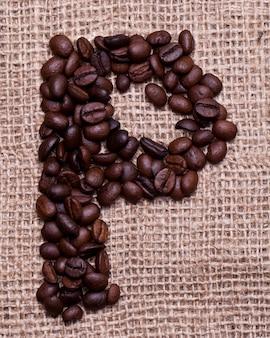 Letzteres von kaffeebohnen