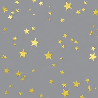 Leuchtende sterne auf der ultimate grey-oberfläche