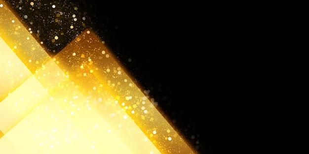 Leuchtender abstrakter hintergrund quadratischer rahmen lichtspuren und bokeh 3d-darstellung