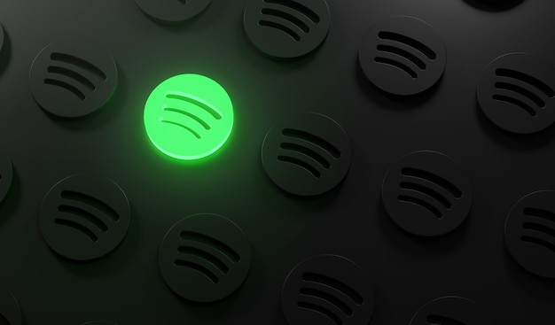 Leuchtendes spotify-logo-muster