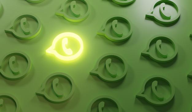 Leuchtendes whatsapp-logo-muster