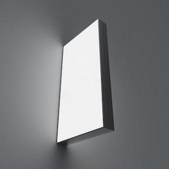 Leuchtkasten des 3d-renderingprofils