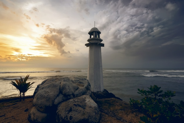 Leuchtturm am carita-strand