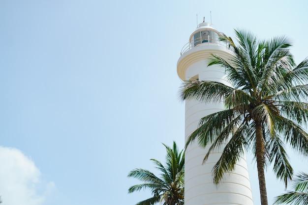 Leuchtturm am hafen von sri lanka