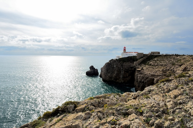 Leuchtturm am kap san vicente, portugal