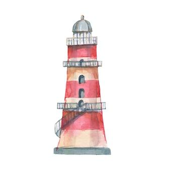 Leuchtturm muscheln meer nahtlose muster reise strand aquarell