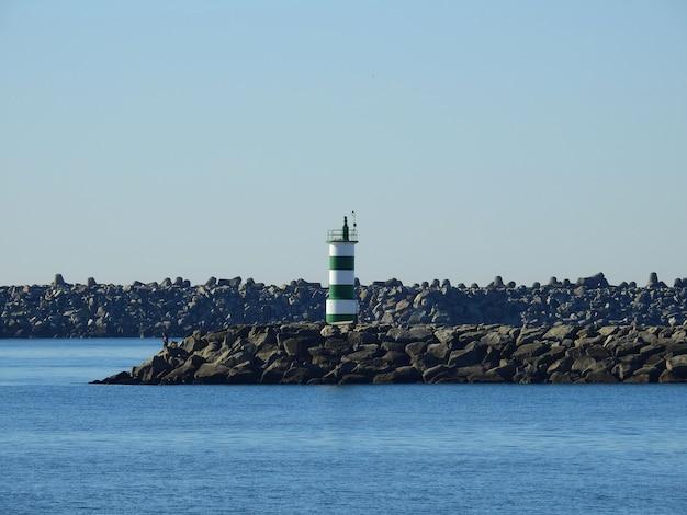 Leuchtturm vom cabedelo strand, in portugal
