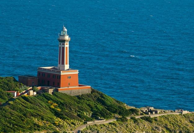 Leuchtturm von capri island, italien, europa