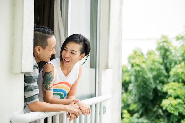 Lgbt asiatisches lesbisches paar