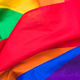 Lgbt-flagge auf stoff
