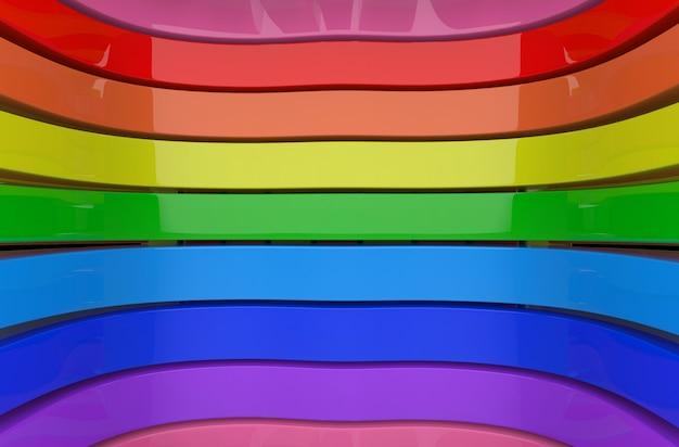 Lgbtq regenbogen farbkurve panels wand hintergrund