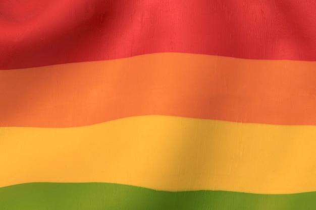Lgbtq+ regenbogenflaggenhintergrund in diy plastilin-ton-textur