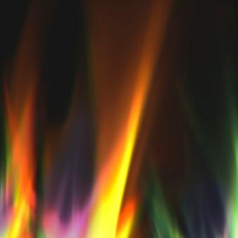 Licht leckt hintergrund, bunter film brennt auf schwarzem hintergrund