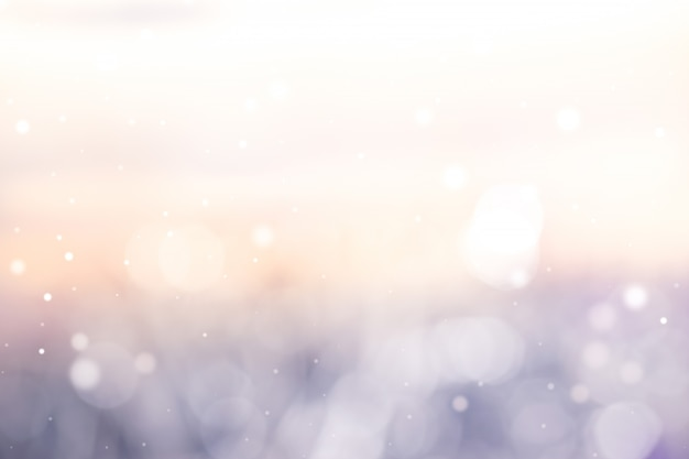 Licht pfirsichblaues bokeh abstrakter hintergrund.