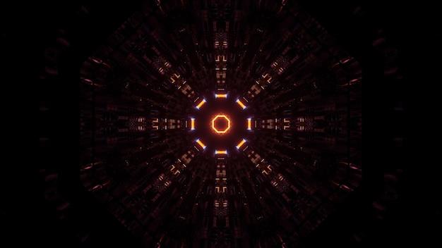 Lichter nebeneinander in kreisförmiger reihenfolge angeordnet