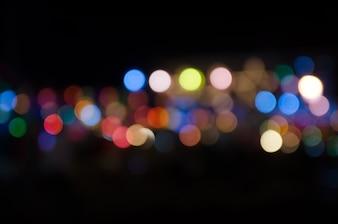 Lichter verwischten bokeh Hintergrund von der Weihnachtsnachtpartei