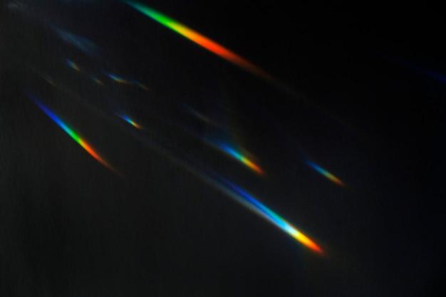Lichtleck-effekt auf schwarzem hintergrund