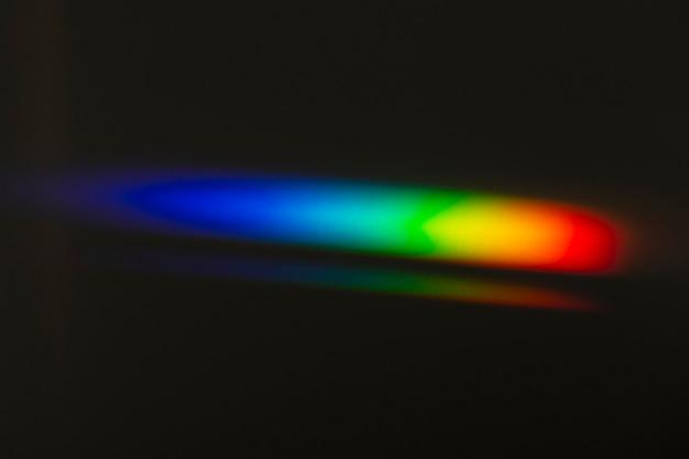 Lichtleckeffekt auf einem schwarzen hintergrundbild