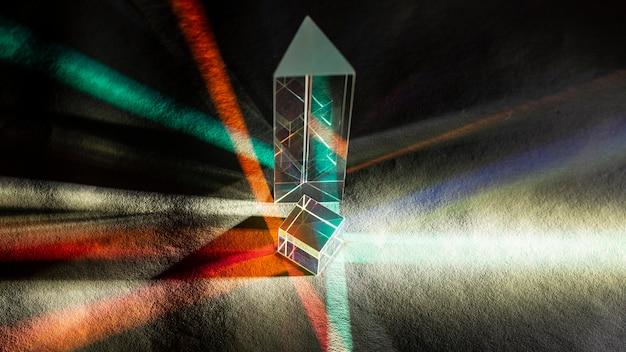 Lichtstreuung und optisches effektprisma