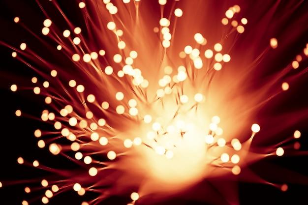 Lichtwellenleiter-lichterketten in orange