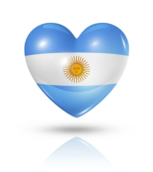 Liebe argentinien herz flaggensymbol