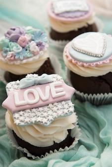 Liebe cupcakes zum valentinstag oder geburtstag