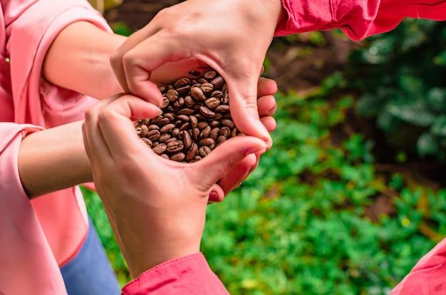 Liebe kaffeebohnen