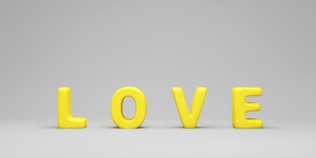 Liebe text zeichen auf studio hintergrund