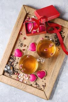 Liebe valentine tee grußkarte