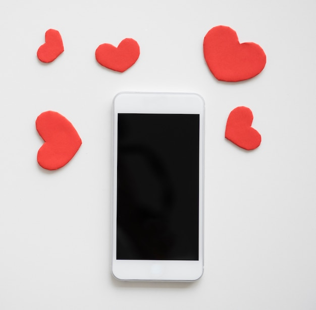 Liebesherzform-romance telefon