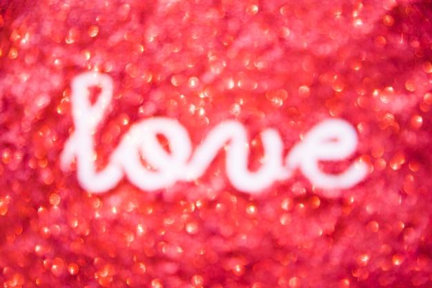 Liebesschreiben auf rotem funkeln