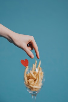 Liebevolle pommes frites