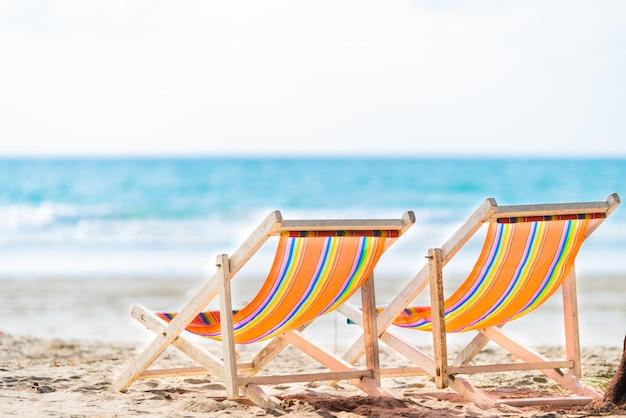 Liegestuhl strand zur entspannung