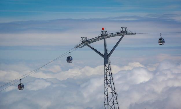 Lift im österreichischen skigebiet