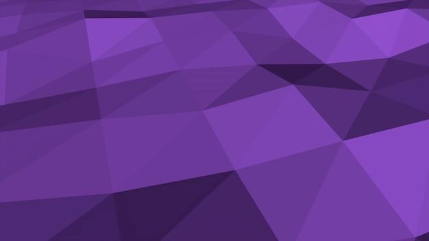 Lila low-poly-abstrakter hintergrund, dreiecke geometrische form. eleganter und luxuriöser dynamischer stil für unternehmen, 3d-illustration