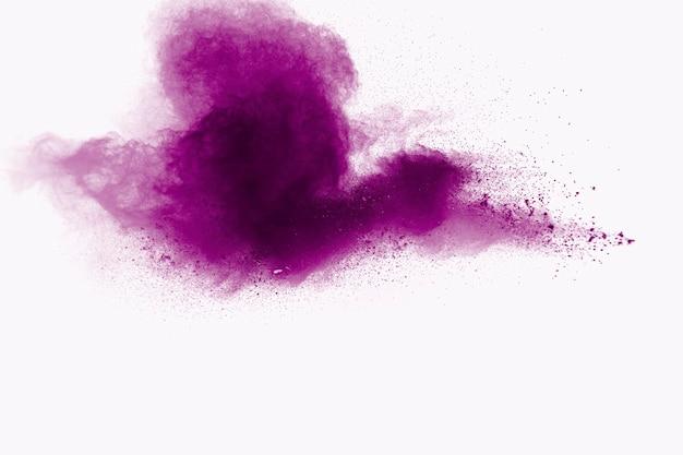 Lila pulver explosion hintergrund