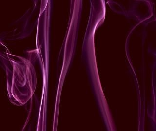 Lila rauch luft