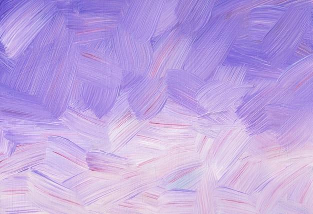 Lila und weiße hintergrundmalerei. helle lavendelfarbene gradiententextur. pinselstriche auf papier.