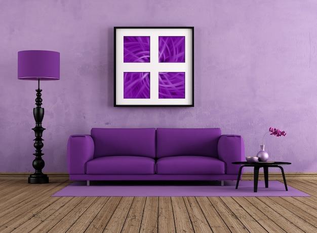 Lila wohnzimmer