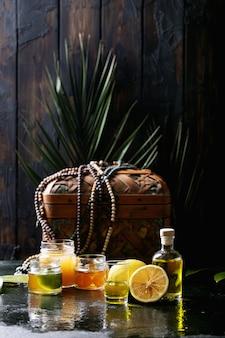 Limoncello in glasflasche