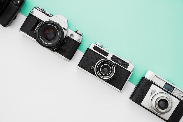 Linie von retro-kameras