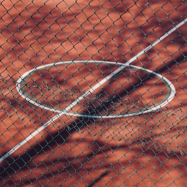 Linien auf dem fußball-sportplatz