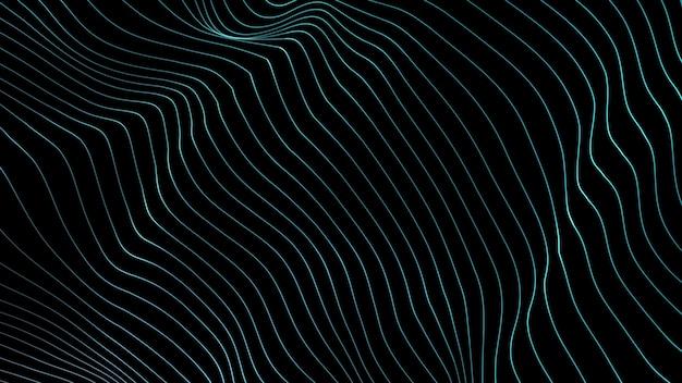 Linien hintergrund. abstrakte linie. streifenmuster, curve neon-element. dynamische kulisse. präsentationsabdeckung. blaue farbe