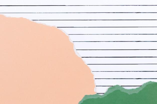 Linienmusterhintergrund mit papiercollage